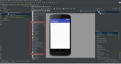 Android Studio Layout Options | creating and using widgets in android studio pluralsight