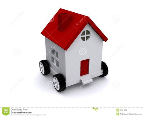 house of wheels modern house on wheels stock illustration illustration of wheels 17921671