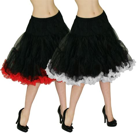 swing petticoat hell bunny black red white 20 quot full new vintage 50s swing