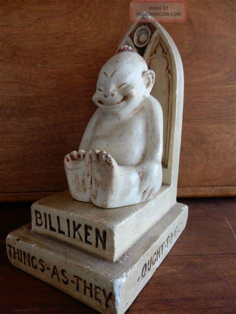 billiken token 1908 billiken on throne figure luck billiken company