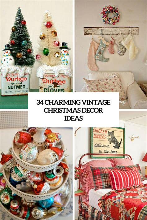 34 charming vintage christmas d 233 cor ideas digsdigs