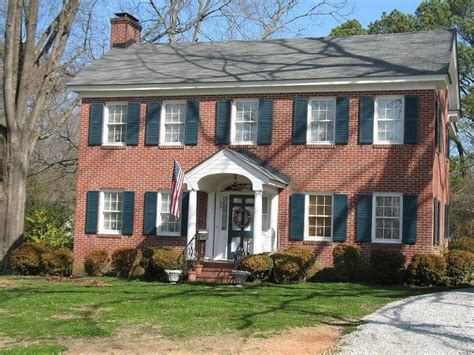 colonial brick homes brick colonial for the home pinterest