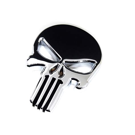 Emblem Metal Sticker Punisher Skull Logo 3d Chrome buy wholesale scary from china scary wholesalers aliexpress