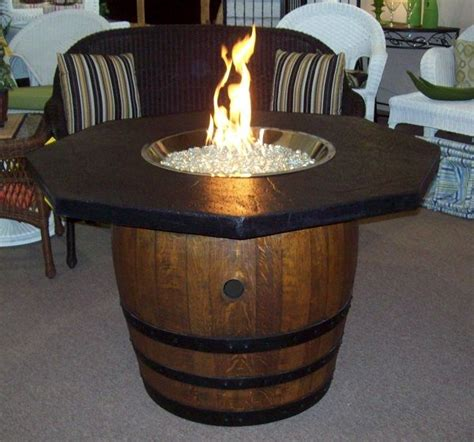 wine barrel home decor wine barrel firepit table want to make one home decor