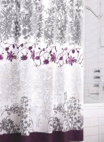 Gray And Purple Curtains Ideas Kas Australia Floral Vine Shower Curtain I Purple With Gray Buildin My Home