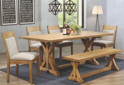 White Oak Dining Room Set by Douglas Vintage White Oak Rectangular Dining Room Set