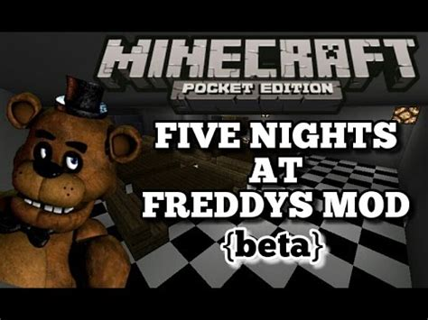 Pdf Five Nights At Minecraft Mod by Five Nights At Freddys Mod Minecraft Pocket Edition