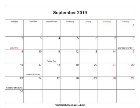 september 2019 calendar september 2019 calendar printable with holidays pdf and jpg