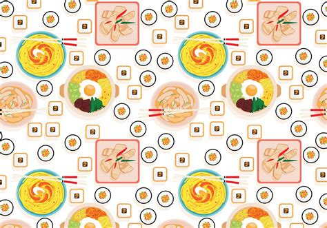 pattern food vector korean food pattern vector download free vector art