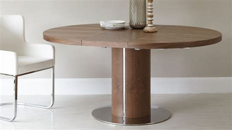 Extending Circular Dining Table Walnut Extending Dining Table Pedestal Base Uk