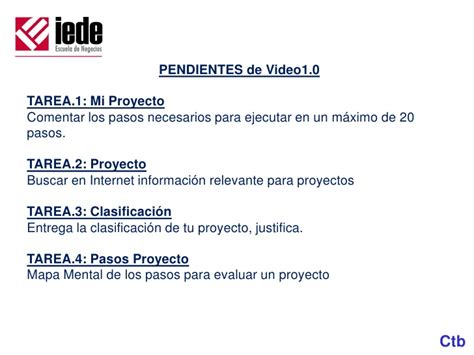 Tarea 3 1 Mba 5020 by 0911 Eval Proy Video30