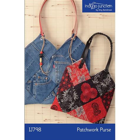 patchwork purse sewing pattern from indygo junction