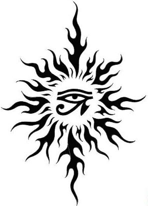 eye of horus tribal tattoo sun horus eye design and henna patterns