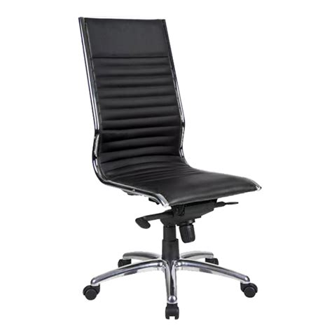 Chair City by City High Back Chair Black Leather Ikcon