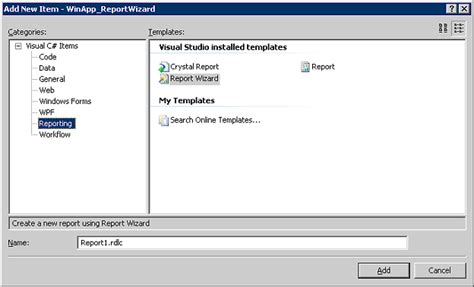 Report Template For Visual Studio 2008 Report Wizard In Visual Studio 2008