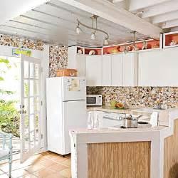 beachy kitchen seashell backsplash boho style
