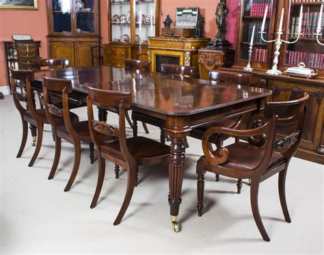 antique regency mahogany dining table 8 regency chairs