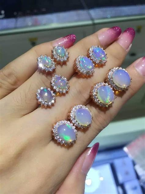 genuine aaa opal 6 7 8mm 925 sterling genuine opal earring solid 925 sterling silver 100