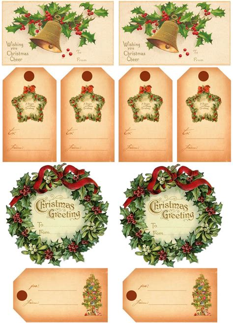 vintage christmas gift tags vintage gifts vintage
