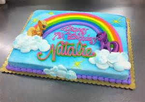 little pony rainbow sheet cake by stephanie dillon ls1 hy vee bakery department custom sheet