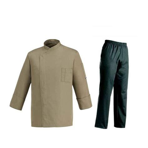 divisa da cucina divisa da cuoco giacca grigio talpa e pantaloni neri