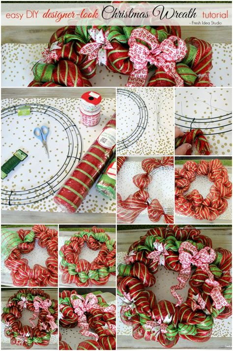 christmas decoration step by step tutrials easy wreath tutorial