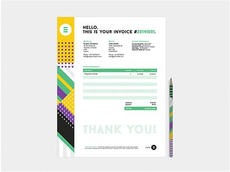 creative invoice template 35 creative invoices designed to leave a impression