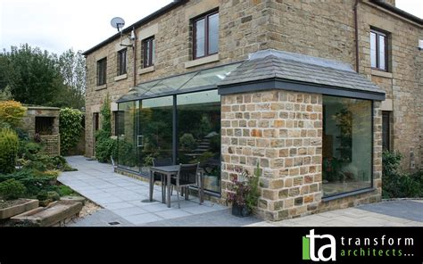 Kitchen Renovation Ideas by Structural Glass Extension Stone Corner Transform