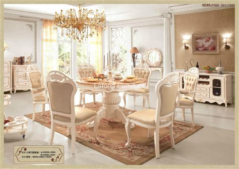 wooden sectional round dining table with leather and