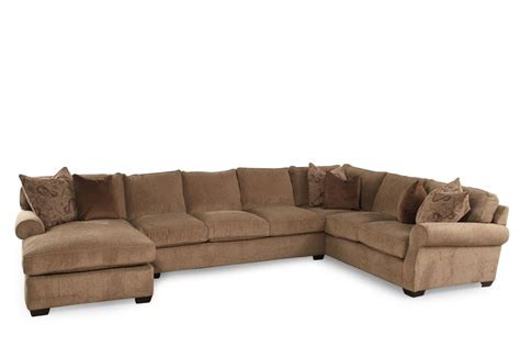 lane sectional sofas lane jonah stone three piece sectional mathis brothers