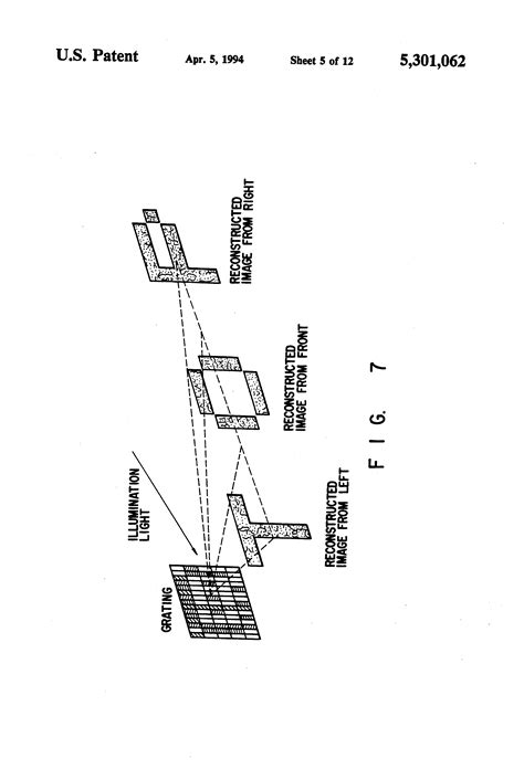 sketch diffraction pattern patent us5301062 display having diffraction grating