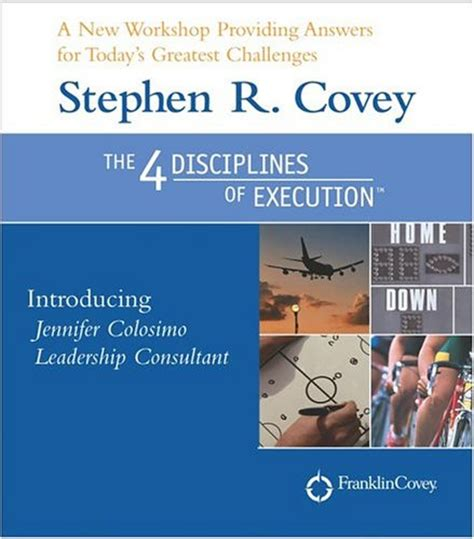 libro 4 disciplines of execution the four disciplines of execution by stephen r covey reviews discussion bookclubs lists