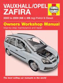Opel Workshop Manual Vauxhall Opel Zafira Petrol Diesel 05 09 05 To 09