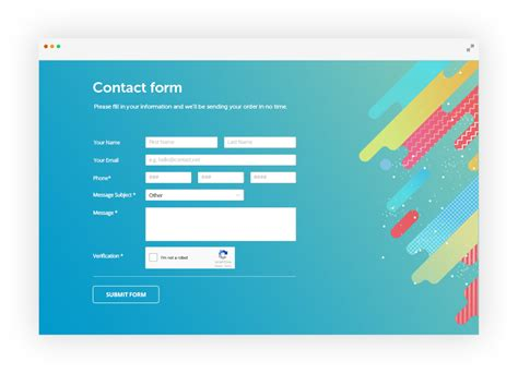 Free Css Form Generator By 123formbuilder Ex 123contactform Html And Css Form Templates