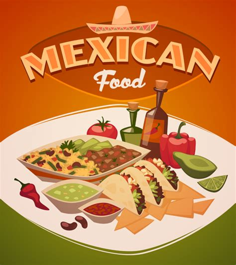 foreign cuisine international cuisine publicize template vector 04