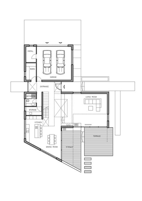 t shaped house floor plans imposing contemporary residence with a t shaped floor plan in zagreb freshome