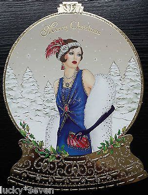 clintons art deco lady embellished christmas cards  art deco cards art art deco