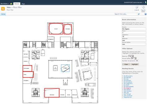 Visio Floor Plans by Visio Services Application Development Bram De Jager