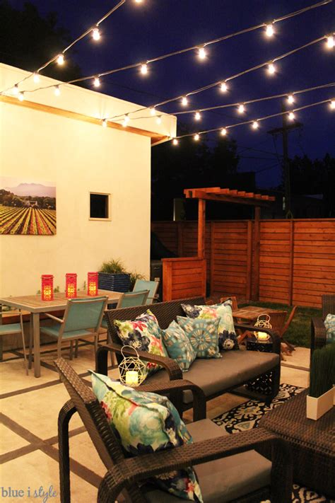 how to hang string lights how to hang patio string lights blue i style creating