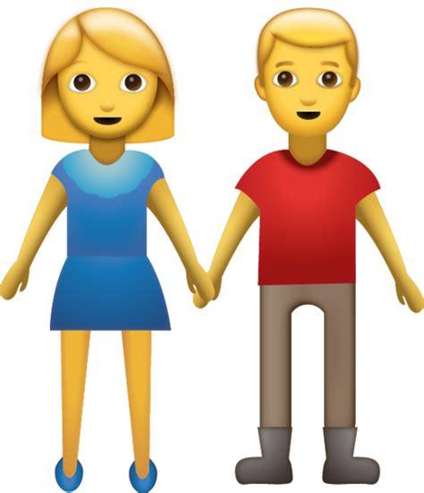 man woman holding hands iphone emoji icon
