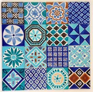 Moroccan inspired hand painted ceramic tiles for splashback jocelyn