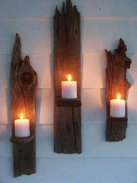 Wood Wall Sconce madeira wood candle holders and front porches on