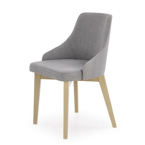 Chaise Tissu by Chaise Fauteuil Tissu Gris Inri91 Avec Bois Massif Dossier