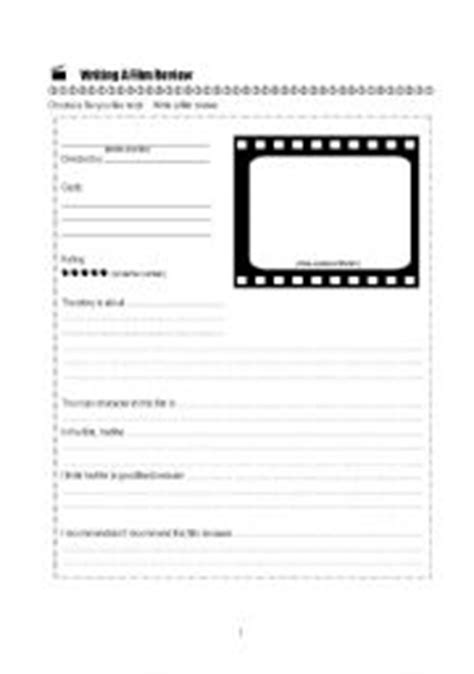 esl worksheets for beginners writing a film review