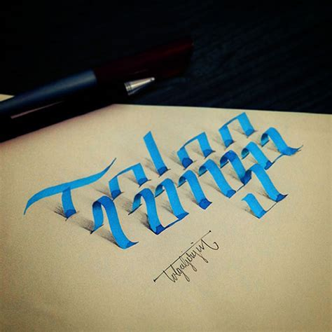 3d Lettering 3d lettering a new trend for calligraphers typographers
