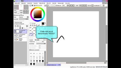 paint tool sai gmail tutorial easy paint tool sai espa 209 ol parte 1 by