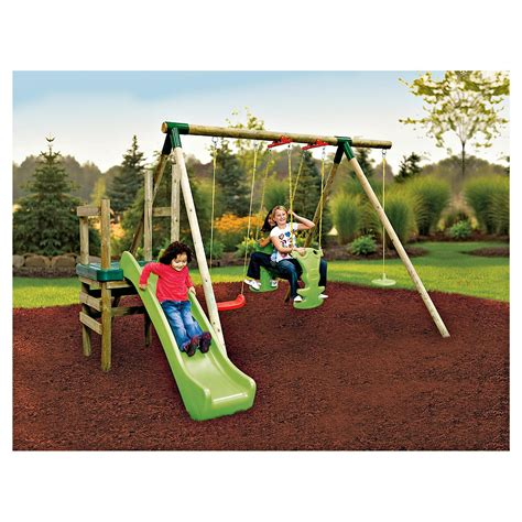 small swing and slide set games consoles and toys little tikes twin slide tunnel