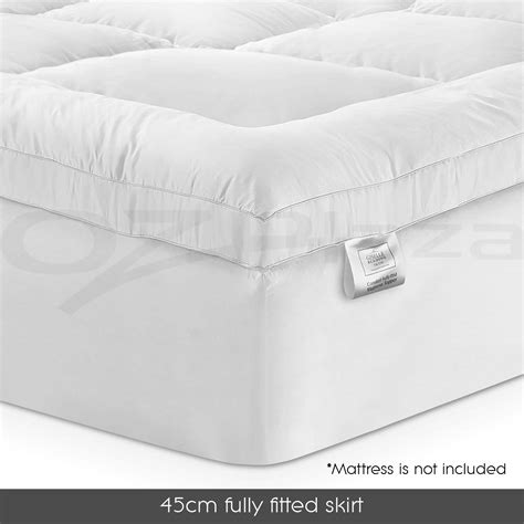 Size Pillow Top Mattress Topper by Bamboo Fibre Pillowtop Mattress Topper 1000gsm All Size