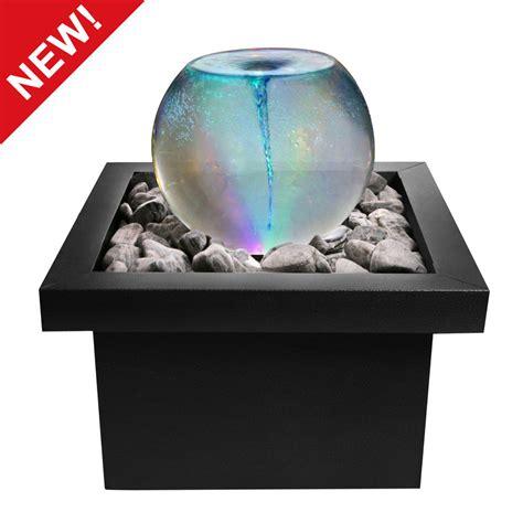 Indoor Urban Garden - vortex whirlpool orb sphere water feature fountain colour changing light indoor ebay