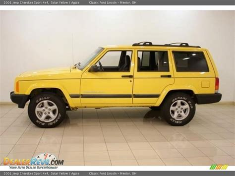 jeep cherokee yellow 2001 jeep cherokee sport 4x4 solar yellow agate photo 4